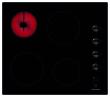 Table vitrocéramique 60 cm - 4 radiants - 6 kW - Manettes latérales - Témoins de