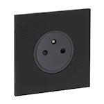 Art d'Arnould univers Epure prise de courant 2P+T 16A 250V - noir mat