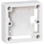 Cadre saillie 1 poste pour socle et sortie de câbles 100x100x36mm