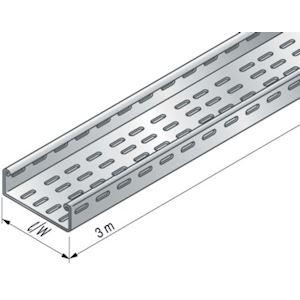 Dalle perforée BS à bords roulés fermés de sécurité, hauteur 24, largeur 50, SZ
