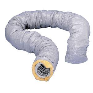 Gaine souple PVC renforcée, isolée 25 mm de verre, diamètre 80 mm, longueur 6 m