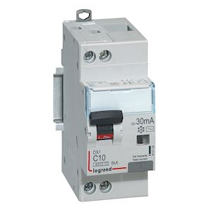 DX3 DISJ DIFFERENTIEL 1P+NG C 10A 4500A/ 6KA AC 30MA 2 MODULES
