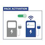 Pack activation pour une borne de charge sans modem. 3 mois de services inclus