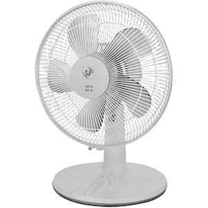 Ventilateur de table 3 vitesses. D 300 mm. Vitesse d'air : 2,7 m/s.