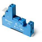 Support 8A 250V série 4652, bleu, étrier plastique, à cage