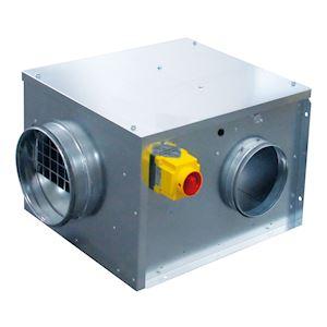 Caisson C4, 500 m3/h, coudé à 90DEG, dépressostat et inter de proximité