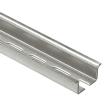 Rail symétrique avec oblongs à couper prof. 15 mm - L. 2 m