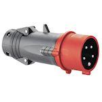 Fiche mobile droite Hypra IP44 16A - 380V~ à 415V~ - 3P+N+T- plastique