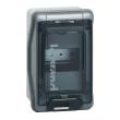 Coffret Plexo 4 modules avec embouts à perf. directe - IP 65 - IK 09 - Gris