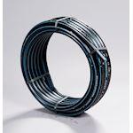 POLYBLEU PE100 16-20-25 bar 20x3 50m. TUBE PE noir à bandes bleues. Réseau EP