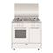 Butanette Alpha 80 x 50 cm blanche/plan de cuisson inox - Four gaz émail lisse 4