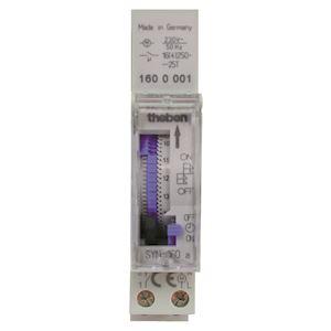 Interrupteur horaire mécanique sans réserve de marche  1 c  unipolaire
