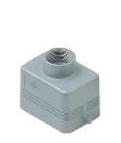 Capot aluminium 2 pivots sortie verticale bas profil PG16.