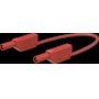 Cordon de mesure de sécurité 4 mm 100 cm rouge