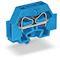 Borne modulaire 2C / 4 mm² / Bleu / Pied de fixation