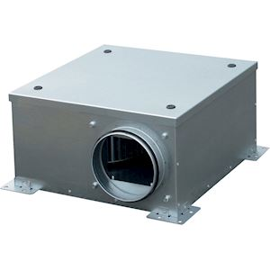 Caisson de ventilation extra-plat, 200 m3/h, hauteur 23 cm, D 125 mm