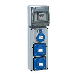 COFFRET MULTPRISE AVEC DISJONCTEURS 1X2P+T 16A 230V + 2PC NFC