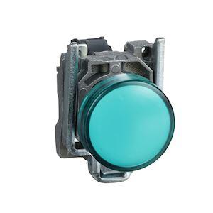 Harmony XB4 - voyant - avec LED - 110-120VAC - D=22 - cabochon lisse vert