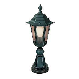NIZA - Borne Ext. IP44 IK02, noir, E27 46W max., lampe non incl., haut.45cm
