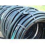 POLYBLEU PE100 12-16-20B 25x3 100m sdr10.TUBE PE noir à bandes bleues.réseau AEP
