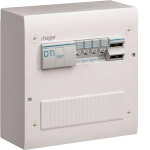 Coffret de communication semi-équipé 4xRJ45 Grade 2TV