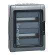 Coffret Plexo 2x12 modules avec embouts à perf. directe - IP 65 - IK 09 - Gris