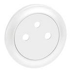 Enjoliveur Céliane pour prise de courant 2P+T Surface - blanc