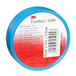 3M Temflex 1500 Ruban d'isolation électrique 10m x 15mm Bleu