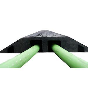 PONT VEHICULES 37-2 : passage de cable Vehicules - 98cm - 2 canaux D=37mm - Noir