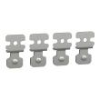 Spacial S3D - jeu de 4 pattes fixation acier coffret