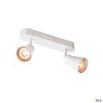 AVO DOUBLE, applique et plafonnier, double, QPAR51, blanc, max. 2x50W