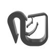 HARNESS CLIP EDGE MOUNT, .16' - .35' (4.0MM - 9.0MM) BUNDLE