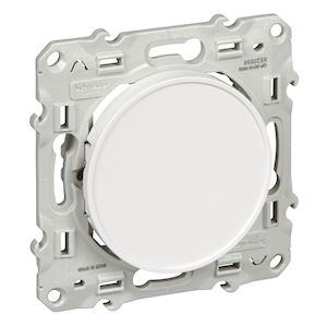 Odace - Obturateur blanc (RAL 9003) - Fixation par vis