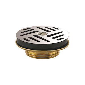 Bonde lavabo écoulement libre grille inox D=63 mm, serrage 0/50 mm