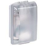 Hublot rectangulaire étanche Plexo avec diffuseur clair pour lampe E27