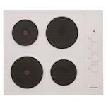 Plaque de cuisson 60 cm Electrique Blanc
