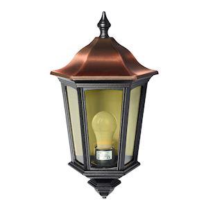 LIZZIO - Applique Mur Ext. IP44 IK08, cuivré oir, E27 100W max., lampe non incl