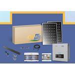 Kit Sol. string 9W-triphasé-30 PV 300W-monitoring-toit tuile ETN-Coffret AC/DC