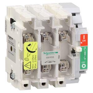 TeSys GS1 - bloc de base interrupteur-sectionneur fusible - 3P 3F - NFC - 50A