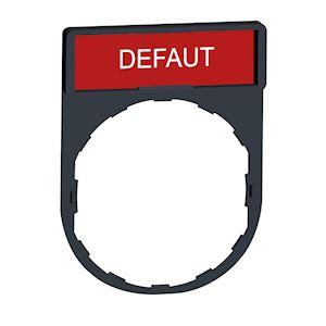 Harmony - porte-étiquette 30x40 + étiquette 'DEFAUT' 8x27 - blanc/rouge