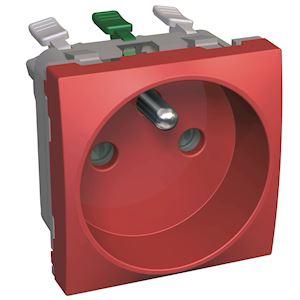 Altira - prise de courant 2P+T fixe à 90DEG détrompage visuel rouge