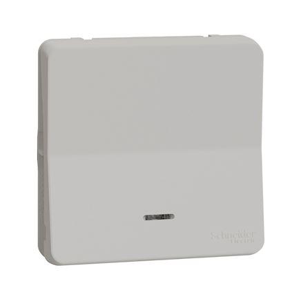 MCLseller Commutateur de Panneau Mural Lumineux /à LED Gris Interrupteur Mural /à Bouton-Poussoir