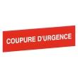 ETIQUETTE 125X125 COUPURE D'URGENCE