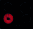 Table vitrocéramique 60 cm - 4 High-Light - 6 kW - Commandes sensitives - 4 boos