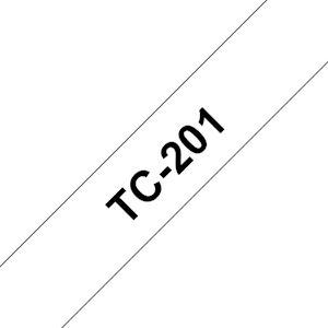 Ruban TC-201 pour étiqueteuse  Noir sur Blanc  12 mm