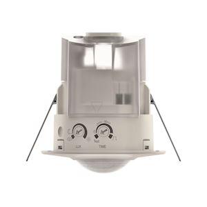 Détecteur mouvements compact encastré plafond 360DEG blanc 1c IP 44