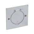 Platine rectangulaire simple poste à équiper - IP44/IK08 - Inox brossé