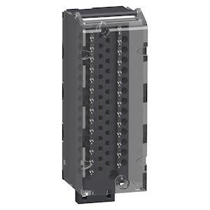 Modicon X80 - Bornier de raccordement - à ressort - débrochable - 28 contacts