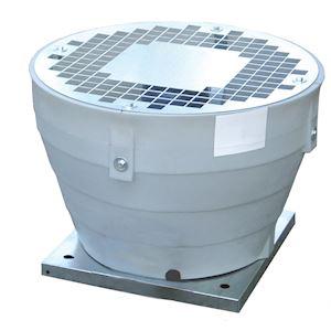 Tourelle centrifuge verticale, 6000 m3/h, 4 poles, D 400 mm, triphasée 400V