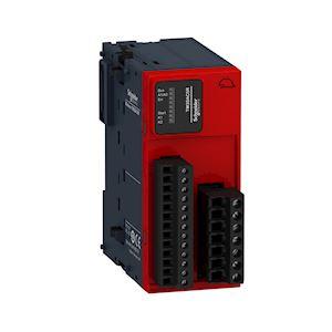 Modicon TM3, module sécurité contrôle AU/inter, cat. 3 SIL2, 24VCC, à vis
